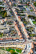 Nederland, Zeeland, Zeeuws-Vlaanderen, 19-10-2014; centrum Breskens met dorpsstraat. Spuiplein.<br /> Downtown Breskens with its mainstreet Villagestreet (Dorpsstraat).<br /> <br /> luchtfoto (toeslag op standard tarieven);<br /> aerial photo (additional fee required);<br /> copyright foto/photo Siebe Swart