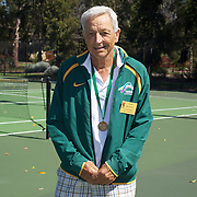 Alan Hocking, Australia, Semi Finalist, 75 Mens Singles, during the 2009 ITF Super-Seniors World Team and Individual Championships at Perth, Western Australia, between 2-15th November, 2009.