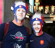 French fans prior to kick off during the Rugby World Cup Pool D match between France and Italy at Twickenham, Richmond, United Kingdom on 19 September 2015. Photo by Matthew Redman.