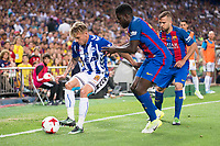 Deportivo Alaves's defender Kiko Femenia and FC Barcelona's defender Samuel Umiti during Copa del Rey (King's Cup) Final between Deportivo Alaves and FC Barcelona at Vicente Calderon Stadium in Madrid, May 27, 2017. Spain.<br /> (ALTERPHOTOS/BorjaB.Hojas)