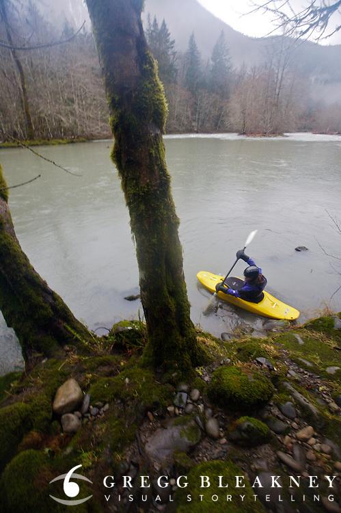 Kayaking Elwah River - Olympic National Park