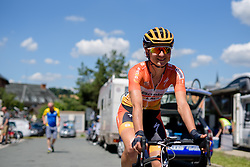 Kasia Pawlowska (Boels Dolmans) makes her way to the start line at Thüringen Rundfarht 2016 - Stage 6 a 130 km road race starting and finishing in Schleiz, Germany on 20th July 2016.