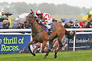 LIBERTY BEACH (4) ridden by David Allan and trained by John Quinn winning The Hilary Needler Trophy Fillies Conditions Stakes over 5f (£40,000) during a Very British Raceday at Beverley Racecourse, Beverley, United Kingdom on 8 June 2019.