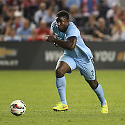 Micah Richards, Manchester City, in action during the Manchester City Vs Liverpool FC Guinness International Champions Cup match at Yankee Stadium, The Bronx, New York, USA. 30th July 2014. Photo Tim Clayton
