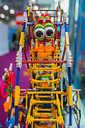 The K'nex stand - The London Toy Fair opens at Olympia exhibition centre. Organised by the British Toy and Hobby Association it is the only dedicated toy, game and hobby trade exhibition in the UK. It runs for three days, with more than 240 exhibiting companies ranging from the large internationals to the new start up companies.