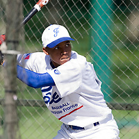 30 April 2008: Andy Paz of France takes batting practice during the first of seven 2008 MLB European Academy Try-out Sessions throughout Europe, at Stade Kandy Nelson Ball Park, in Toulouse, France. Try-out sessions are run by members of the Major League Baseball Scouting Bureau with assistance from MLBI staff.