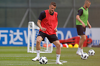 SAINT PETERSBURG, RUSSIA - JUNE 13: Jamie Vardy of England national team during an England national team training session ahead of the FIFA World Cup 2018 in Russia at Stadium Spartak Zelenogorsk on June 13, 2018 in Saint Petersburg, Russia.