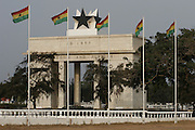 Independence Square and the Black Star monument arch inscribed with the words 'Freedom and Justice'.  Central Accra. Ghana. West Africa..©Picture Zute Lightfoot.  07939 108077. www.lightfootphoto.co.uk