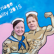 NO REPRO FEE.<br /> 01/03/2015<br /> The Harbour Bar #ShareTheLove<br /> Pictured here are Gr&aacute;inne Healy, Chairwoman of Marriage Equality (left) and Denise Charlton, CEO of the Immigrant Council, and former Co-Chair of Marriage Equality at The Harbour Bar showing their support for Marriage Equality.<br /> Marriage Equality supporters braved the snow and turned out in force to The Harbour Bar in Bray to #ShareTheLove. Supporters are hoping for an avalanche of a YES vote in May&rsquo;s Referendum.<br /> Announcing the event Denise Charlton of #ShareTheLove for Marriage Equality said, &ldquo;Through #ShareTheLove we have encouraged people to invest in history with a donation to Marriage Equality. Through our crowdfunding effort we are showing that making history is no longer the preserve of those individuals or groups who have access to million euro bank balances. Our message is clear &lsquo;Together we can make history&rsquo;.&nbsp; We are confident that people enjoying the event at the Harbour Bar will answer our call.&rdquo;<br /> &nbsp;For enquiries on the #ShareTheLove campaign please contact Jerry O&rsquo;Connor Jerry@immigrantcouncil.ie / 085 8640682<br /> Pics: Alan Rowlette Photography<br /> ENDS