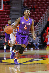 29 December 2016:  Jaiveon Eaves during an NCAA  MVC (Missouri Valley conference) mens basketball game between the Evansville Purple Aces the Illinois State Redbirds in  Redbird Arena, Normal IL