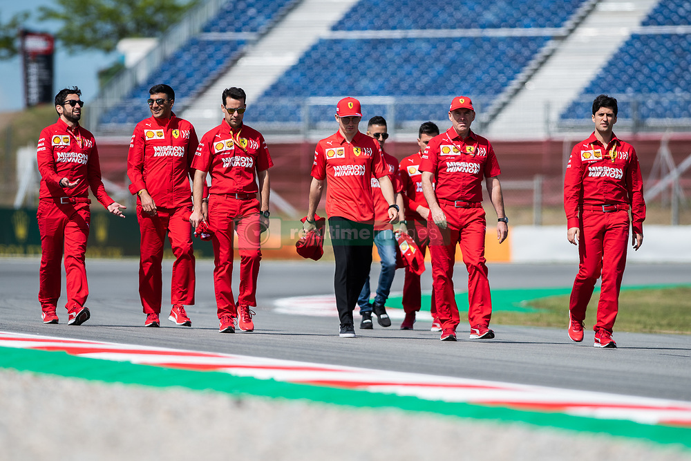 May 9, 2019 - Barcelona, BARCELONA, SPAIN - BARCELONA, SPAIN, 9 May 2019, Circuit de Barcelona Catalunya; Charles Leclerc  driver of with Ferrari engineers Ferrari at Circuit de Barcelona Catalunya (Credit Image: © AFP7 via ZUMA Wire)
