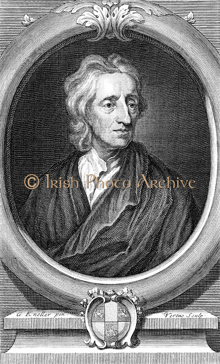 John Locke (1632-1704) English philosopher. Engraving by Vertue after portrait by Kneller.