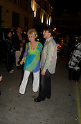 Barbara Windsor; Scott Mitchell<br />.Tracey Emin's ' When I Think about Sex' exhibition after-party. Momo. Heddon St. London. 26 May 2005. ONE TIME USE ONLY - DO NOT ARCHIVE  © Copyright Photograph by Dafydd Jones 66 Stockwell Park Rd. London SW9 0DA Tel 020 7733 0108 www.dafjones.com