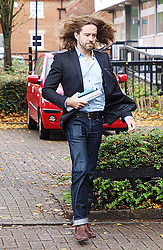 TV comic Justin Lee Collins accused of harassing his former partner Anna Larke arrives at the St Albans Crown Court, Friday Oct 5, 2012. Photo by Max Nash / i-Images.