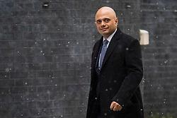 © Licensed to London News Pictures. 01/03/2018. London, UK. Secretary of State for Housing, Communities and Local Government Sajid Javid on Downing Street for a meeting of the Cabinet ahead of Prime Minister Theresa May's speech on Brexit. Photo credit: Rob Pinney/LNP