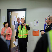 McKinley County Sheriff's Office Lt. James Maiorano speaks to law enforcement participants and Wingate High School staff after conducting an Active Shooter training exercise at Wingate High School Friday.
