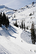 Skiing at Squaw Valley, California, March 2010.
