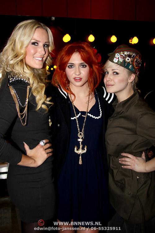 NLD/Amsterdam/20100215 -  inloop verkiezing Miss i Love Fashion, Josh Veldhuizen, Christina Curry en Victoria Koblenko