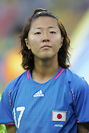 21 August 2008: Yuki Nagasato (JPN). Germany's Women's National Team defeated Japan's Women's National Team 2-0 at the Worker's Stadium in Beijing, China in the Bronze Medal match in the Women's Olympic Football tournament.