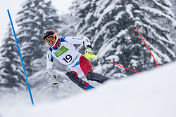 Pfyl Thomas of Austria during Slalom race at 2019 World Para Alpine Skiing Championship, on January 23, 2019 in Kranjska Gora, Slovenia. Photo by Matic Ritonja / Sportida