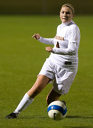 Virginia Cavaliers M Jen Redmond (4)..The #3 ranked Virginia Cavaliers Women's Soccer team defeated the Maryland Terrapins 3-0 at Klockner Stadium in Charlottesville, VA on October 25, 2007.
