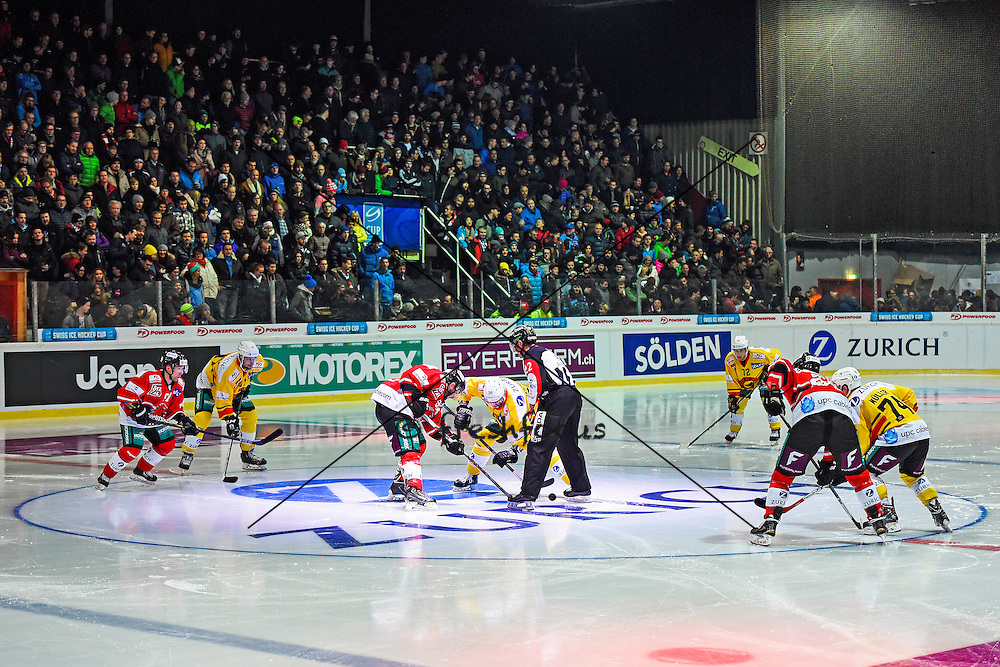 25.11.2015; Visp; Eishockey Schweizer Cup - EHC Visp - SC Bern; <br /> <br />  (Urs Lindt/freshfocus)