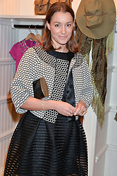 GEORGIE RYLANCE at a party to celebrate the publication of India Hicks: Island Style hosted by Princess Marie-Chantal of Greece, Saffron Aldridge and Amanda Brooks has held at Ralph Lauren, 105-109 Fulham Road, London on 28th April 2015,