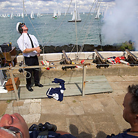 Isle of Wight, Cowes Week 2007 Peter Scott RYS signalman Photographs of the Isle of Wight by photographer Patrick Eden photography photograph canvas canvases