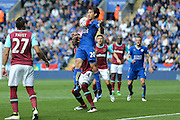 Leicester City forward Shinji Okazaki (20)  during the Barclays Premier League match between Leicester City and West Ham United at the King Power Stadium, Leicester, England on 17 April 2016. Photo by Simon Davies.