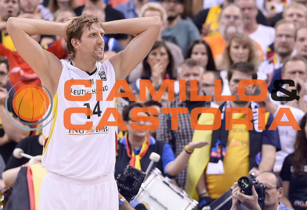 DESCRIZIONE : Berlino Berlin Eurobasket 2015 Group B Germany Turkey<br /> GIOCATORE : Dirk Nowitzki<br /> CATEGORIA : Delusione<br /> SQUADRA : Germany Turkey<br /> EVENTO : Eurobasket 2015 Group B<br /> GARA : Germany Turkey<br /> DATA : 08/09/2015<br /> SPORT : Pallacanestro<br /> AUTORE : Agenzia Ciamillo-Castoria/r.morgano<br /> Galleria : Eurobasket 2015<br /> Fotonotizia : Berlino Berlin Eurobasket 2015 Group B Germany Turkey