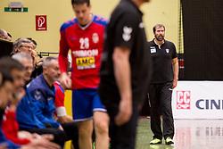 Veselin Vujovic, head coach of Slovenia during Handball friendly match before EURO 2018 between Slovenia and Serbia, on January 10, 2018 in Rdeca dvorana, Velenje, Slovenia. Photo by Urban Urbanc / Sportida