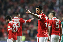 February 5, 2018 - Na - Lisbon, 03/02/2018 - Sport Lisboa e Benfica received this afternoon Rio Ave at the Estádio da Luz in Lisbon, in a game to count for the 21st day of the 2017/2018 Primera Liga. Raúl Jiménez celebrates 5-1 Rock / Global Images) (Credit Image: © Atlantico Press via ZUMA Wire)