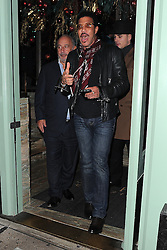 Lionel Richie and Sir Philip Green leaving the Sexy Fish restaurant in London, UK. 07/12/2015<br />