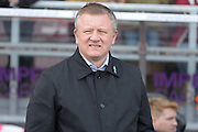 Northampton Town Manager Chris Wilder  during the Sky Bet League 2 match between NorthamptonTown and Cambridge United at Sixfields Stadium, Northampton, England on 12 March 2016. Photo by Dennis Goodwin.