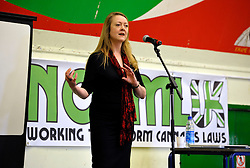 © Licensed to London News Pictures. 18/05/2013. Bristol, UK. Pictureo of l-r:  Annie Machon ex MI5 intelligence officer speaking on Law Enforcement Against Prohibition (LEAP), at the NORML UK 2013 conference calling for reform of Britain's cannabis laws which is holding its first AGM in Bristol.  NORML's first conference in Europe was opened by former drug smuggler and author Howard Marks, aka Mr Nice.  Other speakers included Tom Lloyd former Chief Constable of Cambridgshire, Annie Machon ex MI5 intelligence officer, and Rowan Bosworth-Davies, a former Detective Inspector from the Fraud Squad of the Met.  18 May 2013..Photo credit : Simon Chapman/LNP