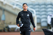Ayoze Perez (#17) of Newcastle United arrives ahead of the Premier League match between Newcastle United and Watford at St. James's Park, Newcastle, England on 3 November 2018.