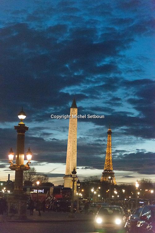 France. Paris. 8th district . place de la concorde