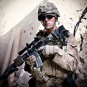 Location:<br /> Patrol Base Fires, Sangin District, Helmand Province, Afghanistan<br /> <br /> Unit: <br /> 3rd Squad, 1st Platoon, Bravo Company, 1st Battalion, 5th Marines<br /> <br /> Name and Rank: Lance Corporal Brian Shearer<br /> <br /> Age: 20<br /> <br /> Hometown: Rapid City, South Dakota<br /> <br /> Why did you join the Marine Corps?<br /> <br /> &quot;I joined the Marine Corps because that&rsquo;s all I ever wanted to do, even ever since I was a little kid. It&rsquo;s just, I feel like everybody should serve. Everyone lives in America and a lot of people take it for granted, what they have, and don&rsquo;t do anything about it. And so I think, I joined because it&rsquo;s just my way of being able to give back to being able to live in a free country.&quot;<br /> <br /> What do you think about the Taliban?<br /> <br /> &quot;They&rsquo;re good at what they do. They know how to emplace their IEDs. They know how to attack from multiple positions, and they&rsquo;re really able to maneuver on you, but mainly because they can blend in with the populace. I mean, they&rsquo;ve been fighting forever, so it&rsquo;s nothing you wouldn&rsquo;t expect.&quot;<br /> <br /> What's the hardest part about being out here?<br /> <br /> &quot;Definitely the hardest part about being out here is watching your friends get killed or altered for the rest of their life. That&rsquo;s definitely the hardest part.&quot;<br /> <br /> Describe the rigors of patrolling:<br /> <br /> &quot;Patrolling, just, you do what you gotta do. You just get wet a lot. Hygienically, you&rsquo;re constantly dirty. Everyone&rsquo;s bodies are constantly messed up in some way. Everyone&rsquo;s got foot problems and all sorts of body problems . . .<br /> <br /> . . . you get really bad trench foot from being in water all day and then you stay in your socks and you can never get your feet dry or clean.&quot;<br /> <br /> What will you tell people about what you saw out here?<br /> <br /> &quot;I won&rsquo;t tell anybody anything, I mean, nobody really . . . nobody wants to know what anybody saw or did out here. If you really wanna know about it enough you should come out here and do it yourself. They may wanna know, but I don&rsquo;t think anybody really deserves to know because they weren&rsquo;t ou