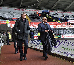 Cardiff City Manager, Ole Gunnar Solskjær walks into  the Liberty Stadium    - Photo mandatory by-line: Alex James/JMP - Tel: Mobile: 07966 386802 08/02/2014 - SPORT - FOOTBALL - Swansea - Liberty Stadium - Swansea City v Cardiff City - Barclays Premier League