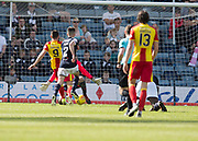 12th May 2018, Dens Park, Dundee, Scotland; Scottish Premier League football, Dundee versus Partick Thistle; Kris Doolan of Partick Thistle scores for 1-0