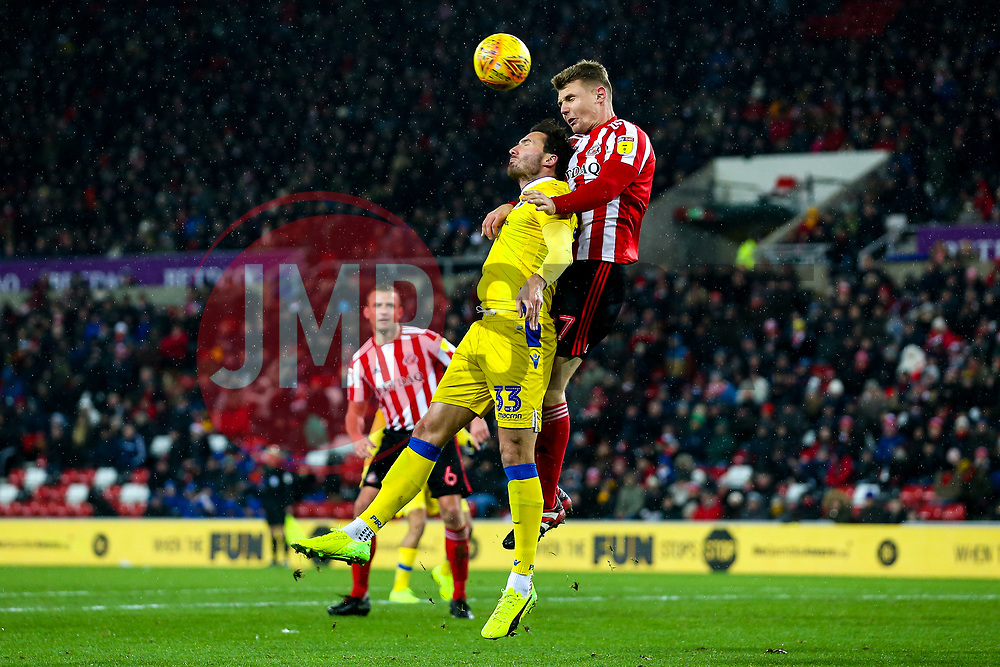 Alex Rodman of Bristol Rovers challenges Max Power of Sunderland - Mandatory by-line: Robbie Stephenson/JMP - 15/12/2018 - FOOTBALL - Stadium of Light - Sunderland, England - Sunderland v Bristol Rovers - Sky Bet League One