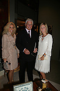 Pia Getty, Robert Miller and Princess Marie-Chantal of Greece., Private Preview of the Grosvenor House Art and Antiques Fair. 13 June 2007.  -DO NOT ARCHIVE-© Copyright Photograph by Dafydd Jones. 248 Clapham Rd. London SW9 0PZ. Tel 0207 820 0771. www.dafjones.com.