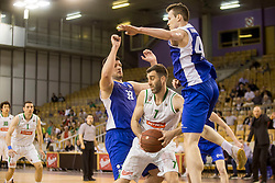 Zomaz Bolcina of KK Sentjur and Drazen Bubnik of KK Petrol Olimpija Ljubljana during basketball match between KK Petrol Olimpija and KK Sentjur in Playoffs of Liga Nova KBM 2017/18, on April 18, 2018 in Tivoli sports hall, Ljubljana, Slovenia. Photo by Urban Urbanc / Sportida