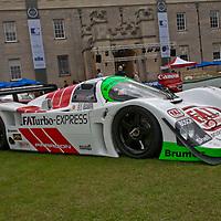 #7 Porsche 962-011 Joest, drivers: Sullivan, Haywood, Robinson, Pescarolo (1993) at the Salon Privé in Syon Park, London, UK, 24 June 2011