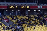 Halftime score line during the Hyundai A-League 2018/19 between Wellington Phoenix v Newcastle Jets, Westpac Stadium, Wellington, Saturday 30th March 2019. Copyright Photo: Raghavan Venugopal / © www.Photosport.nz 2019