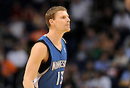 Mar. 12, 2012; Phoenix, AZ, USA;  Minnesota Timberwolves guard Luke Ridnour (13) reacts while playing against the Phoenix Suns at the US Airways Center. The Timberwolves defeated the Suns 127-124.  Mandatory Credit: Jennifer Stewart-US PRESSWIRE.