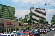 Pictured: Via Espan?a shooping area Street scene. Downtown Panama City. Hotel El Panama.BNP, Banco Nacional de Panama,
