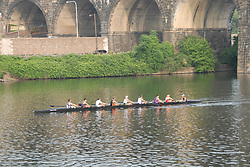 Boathouse Row area along the Schuylkill River, scullers rowing..Philadelphia, Pennsylvania, PA USA.  Photo copyright Lee Foster, 510-549-2202, lee@fostertravel.com, www.fostertravel.com. Photo 315-30188