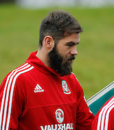 Joe Ledley during the Wales Training at the Vale Resort, Hensol<br /> Picture by Mike Griffiths/Focus Images Ltd +44 7766 223933<br /> 10/11/2015