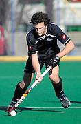 Thomas Loudon of New Zealand in Action, Junior Black Sticks Men vs Malaysia Juniors international Under 21 Hockey, 7 June 2011, Alexander McMillan Hockey Centre Dunedin, New Zealand. Photo: Richard Hood/photosport.co.nz
